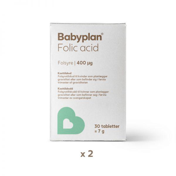 Babyplan folsyre x2