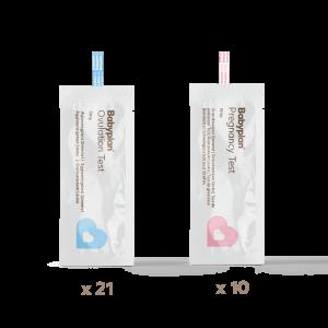 Testsett strimmel med 21 eggløsningstest og 10 graviditetstest